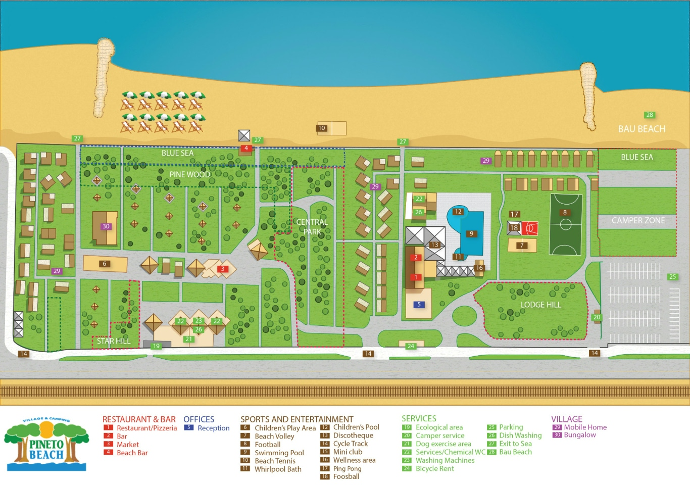 Map Pineto Beach Village & Camping Abruzzo
